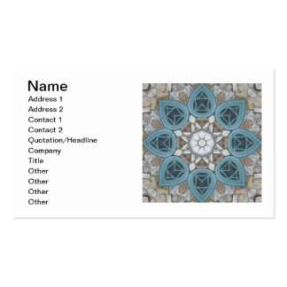 Steampunk Verdigris Window Mandala Double-Sided Standard Business Cards (Pack Of 100)