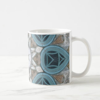Steampunk Verdigris Window Mandala Coffee Mug