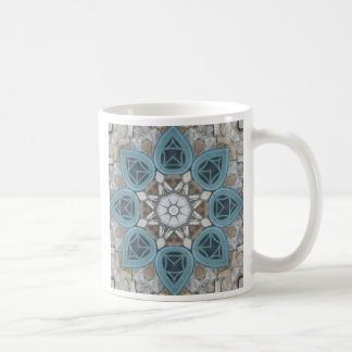 Steampunk Verdigris Window Mandala Coffee Mugs