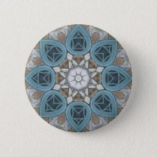 Steampunk Verdigris Window Mandala Pinback Button