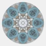 Steampunk Verdigris Window Mandala Sticker