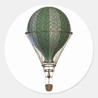 Steampunk Victorian Balloon Classic Round Sticker