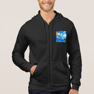STEAMPUNK VICTORIAN BALLOONS ON BLUE SKY HOODIE