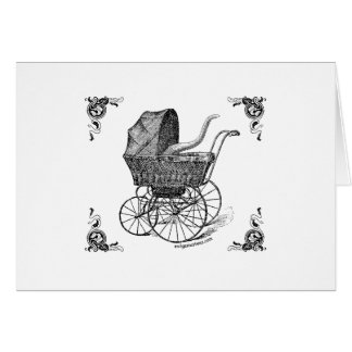 Steampunk Victorian Cthulhu baby Card