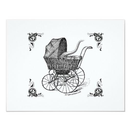 Steampunk Victorian Cthulhu baby Custom Invite