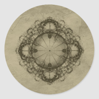 Steampunk Victorian design art Classic Round Sticker