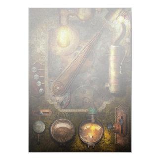 Steampunk - Victorian fuse box Personalized Invitations
