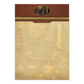 Steampunk - Victorian fuse box Custom Announcements
