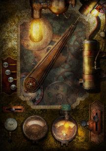 steampunk - victorian fuse box poster