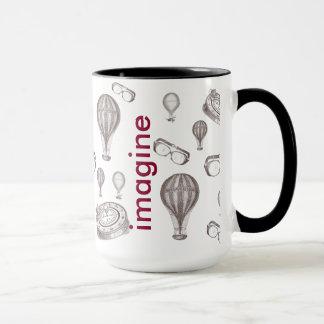 Steampunk victorian objects mug