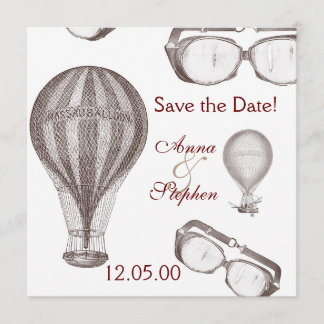 steampunk victorian Save the Date