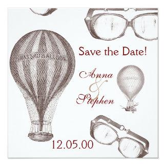 steampunk victorian Save the Date Card