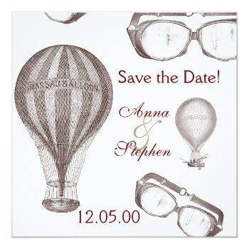 Steampunk Victorian Save The Date Card by justbecauseiloveyou at Zazzle