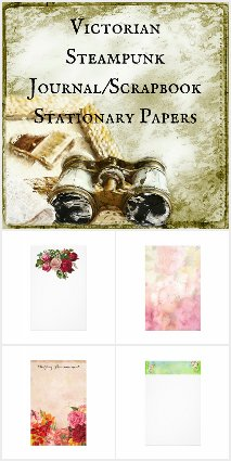 Steampunk Victorian Stationary/Scrapbooking Paper