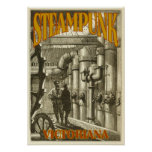 Steampunk Victoriana Posters