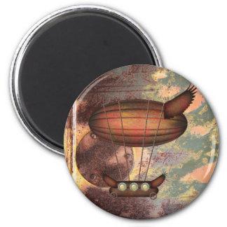 Steampunk Vintage Airship Magnet