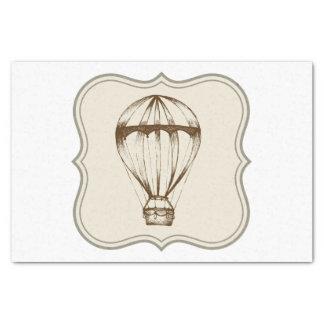 Steampunk Vintage Hot Air Balloon Tissue Paper