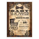 Steampunk Vintage Look Girl Baby Shower 5x7 Paper Invitation Card