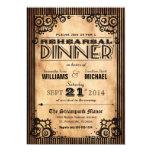 Steampunk Vintage Look Rehearsal Dinner 5x7 Paper Invitation Card