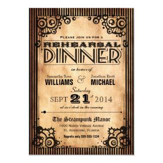 Steampunk Vintage Look Rehearsal Dinner Invitation