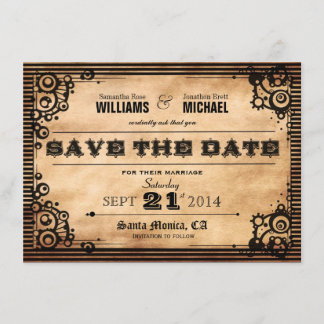 Steampunk Vintage Look Save The Date