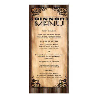 Steampunk Vintage Look Slim Dinner Menu