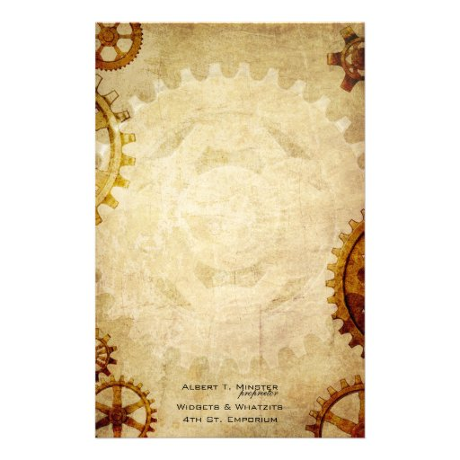 Steampunk Vintage Paper Stationery