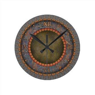 Steampunk Vintage Round Clock
