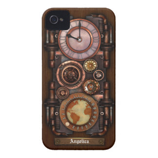 Steampunk Vintage Timepiece 1B iPhone 4 Case-Mate Cases