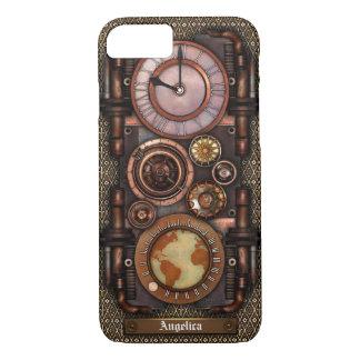 Steampunk Vintage Timepiece #1C iPhone 7 Case