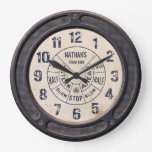 Steampunk Vintage Train Station Wall Clock