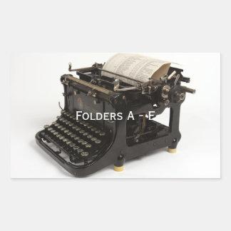 Steampunk Vintage Typewriter Label Stickers