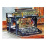 Steampunk - Vintage Typewriter Postcard
