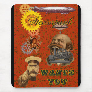Steampunk Wants You Mouse Pads