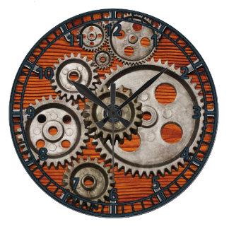 steampunk watch gear engine cogs clock square