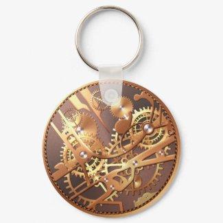 steampunk watch gears keychain keychain