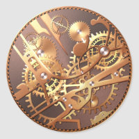 steampunk watch gears stickers