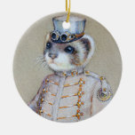 Steampunk Weasel Ornament