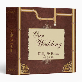 Steampunk Wedding Album or Planner 3 Ring Binder