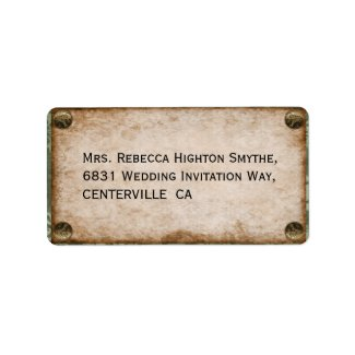 Steampunk Wedding Custom Address Labels