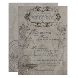 Steampunk Wedding Invitation