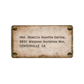 Steampunk Wedding Label