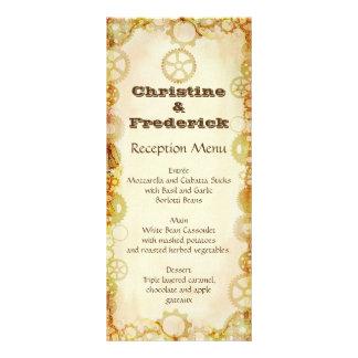 Steampunk Wedding, menu and program Custom Rack Card