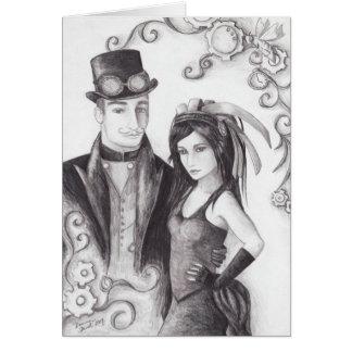 Steampunk Wedding - Notecard Stationery Note Card