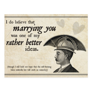Steampunk Wedding Postcard