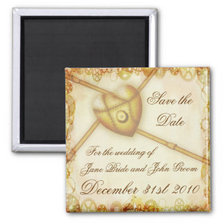 Steampunk Wedding, save the date magnet