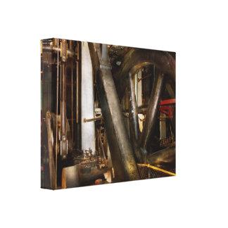 Steampunk - Wheels of progress Canvas Print