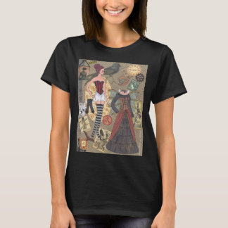 Steampunk Whimsy Paper Doll Art T-Shirt