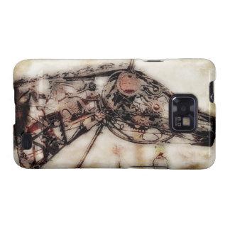 Steampunk Wire Horse Head Samsung Galaxy S Case