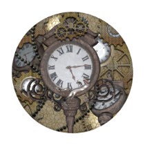 Steampunk with clocks and gears, button covers